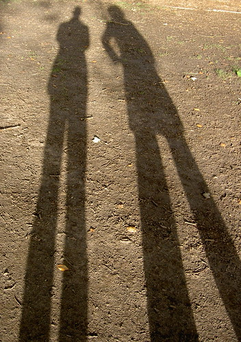 Shadow portrait - me and Sharon | by robpatrick