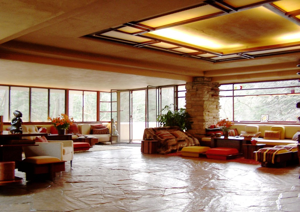 Falling water living room main house 2 did you know for The family room on main