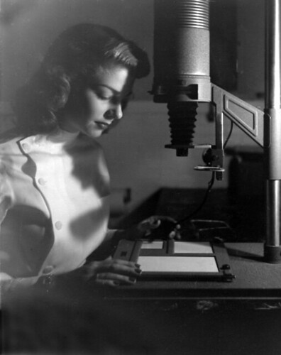 Mom at the enlarger, 1949 | by Joey Harrison