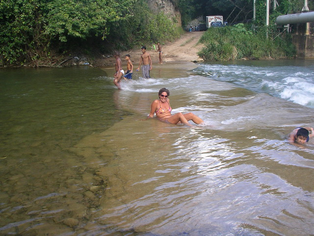 Pissing in the river