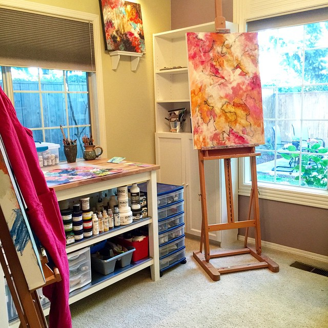 Rearranged Reorganized My Art Studio Which Is In Our Formal Dining Room So