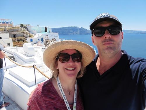 Sunshine and blue seas at Santorini, Greece