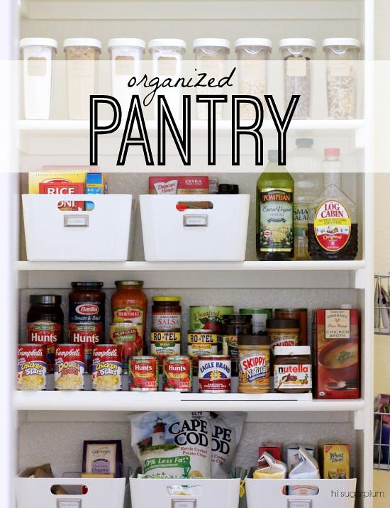 Hi Sugarplum | Organized Pantry