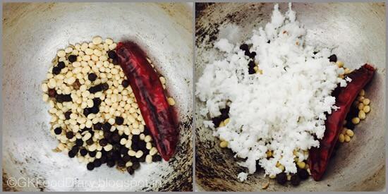 Chow Chow Pepper Kootu - preparation step 1