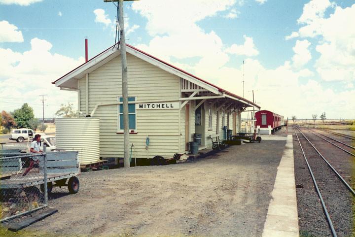 Mitchell Railway Station 1990 Mitchell Railway Station