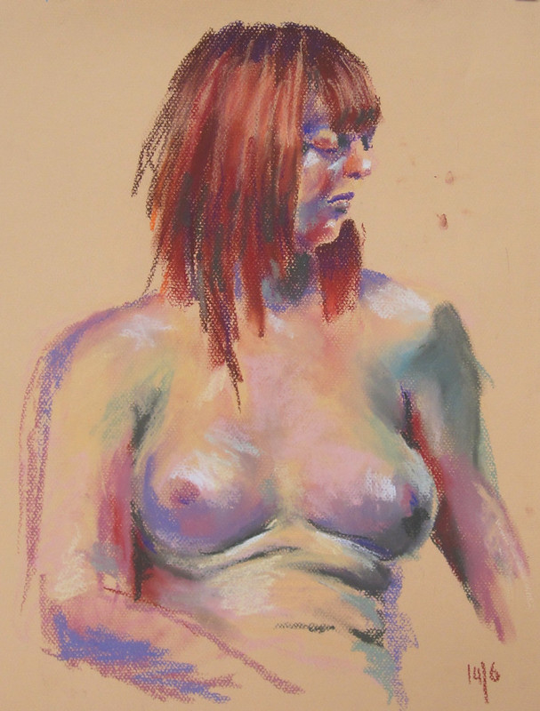 45 mins, soft pastel, 14/06/2015