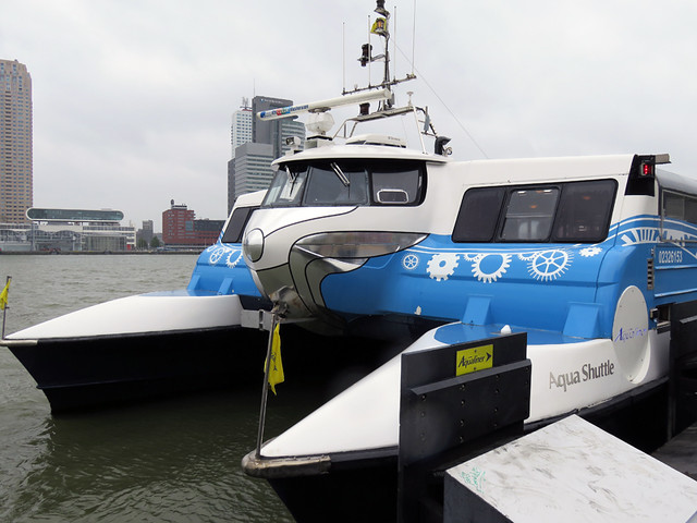 The 'Aqualiner' public transport in Rotterdam, Holland
