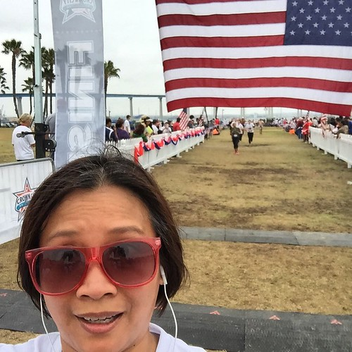 Crossing the #Coronado5K Finish Line. Time for #Selfie. #RunBabyRun | by queenkv