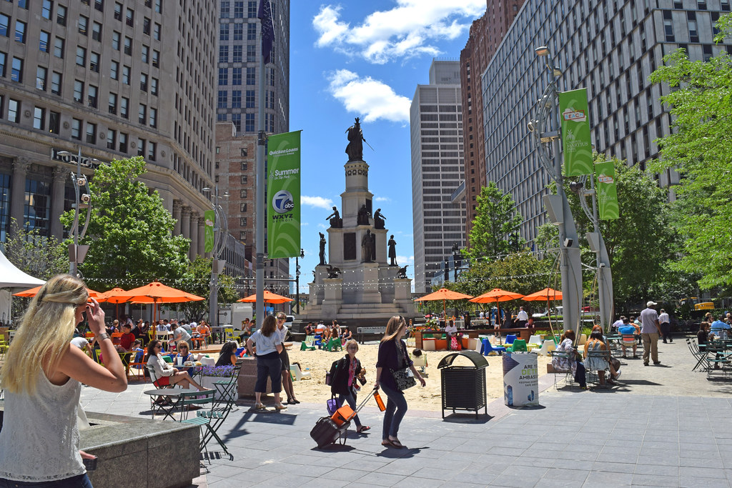 Downtown Detroit Restaurants Campus Martius