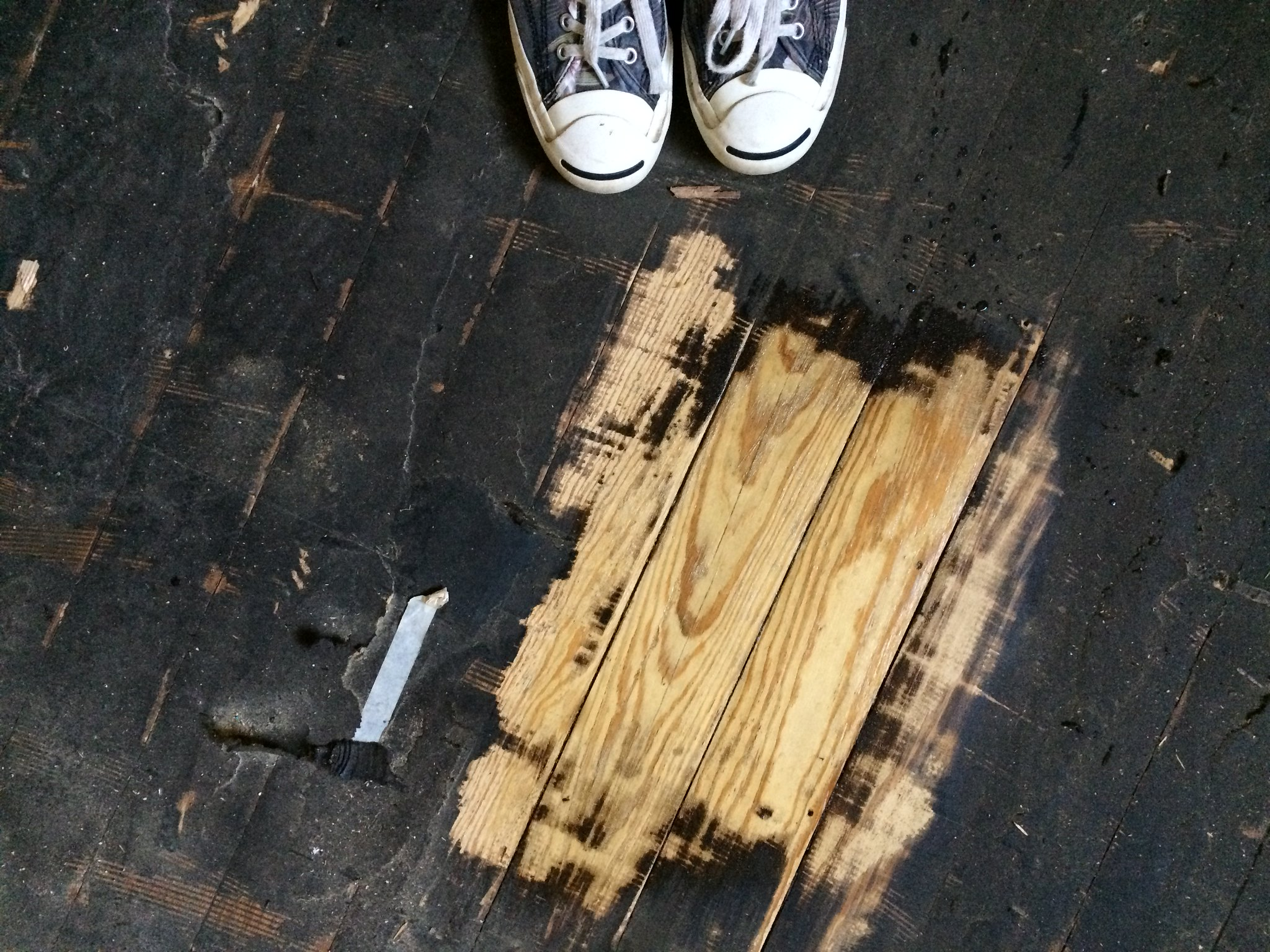 Thicker baseboards and how to remove tar paper - The
