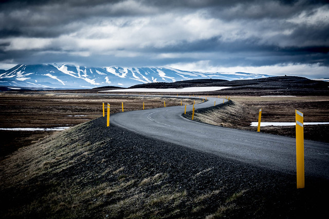 Winding Road Through The Tundra - Iceland