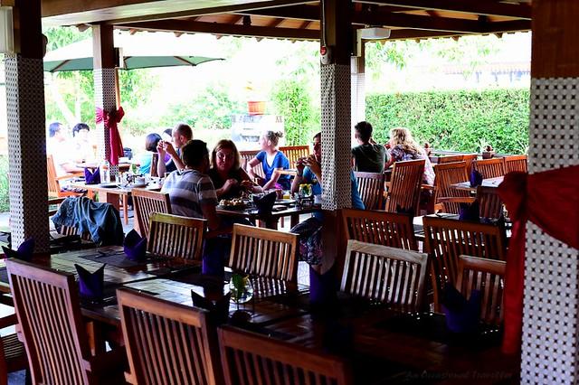 Guests having breakfast in Borobudur Coffee Shop