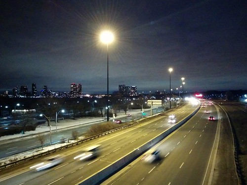 Looking west on the QEW