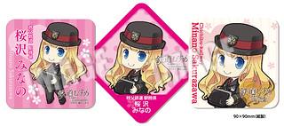 NEW★鉄道むすめ「桜沢みなの」コースター(3枚セット)
