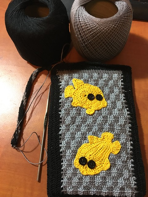 Abstract Goldfish Pocket Bag WIP 1