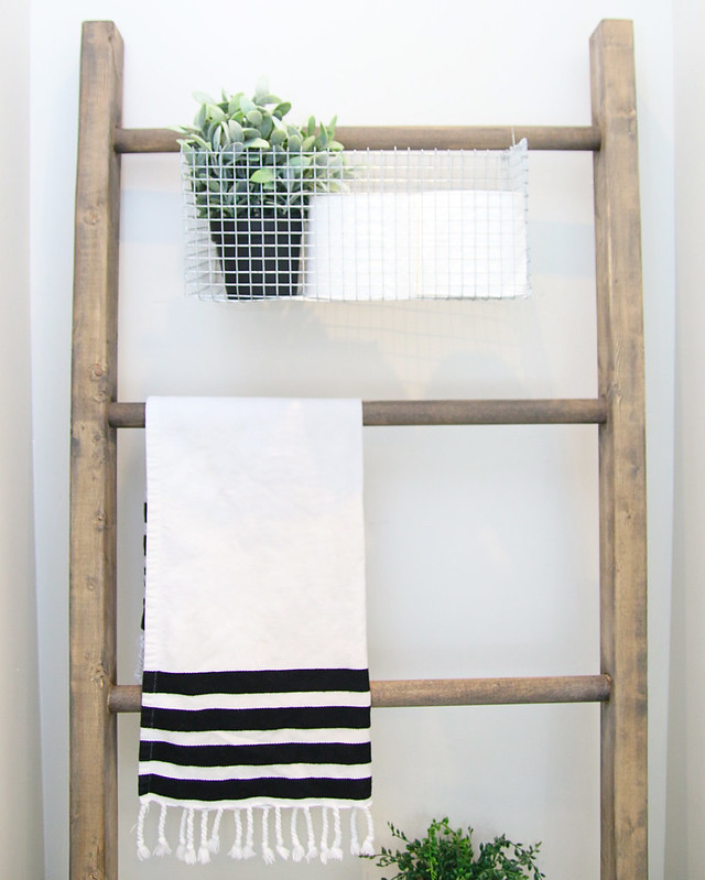Storage Ladder in Bathroom