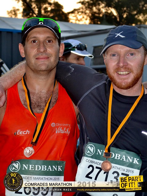 With Andy at the finish