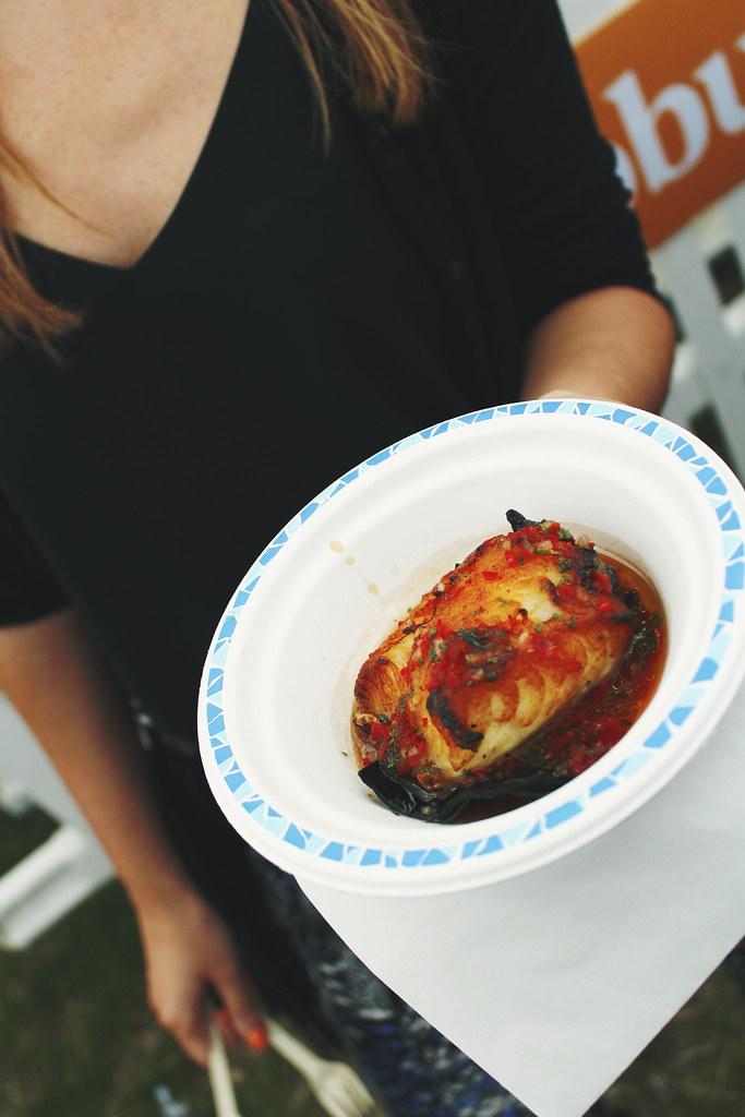 Taste of London Kurobuta Kombu Roasted Chilean Seabass with Spicy Shiso Ponzu
