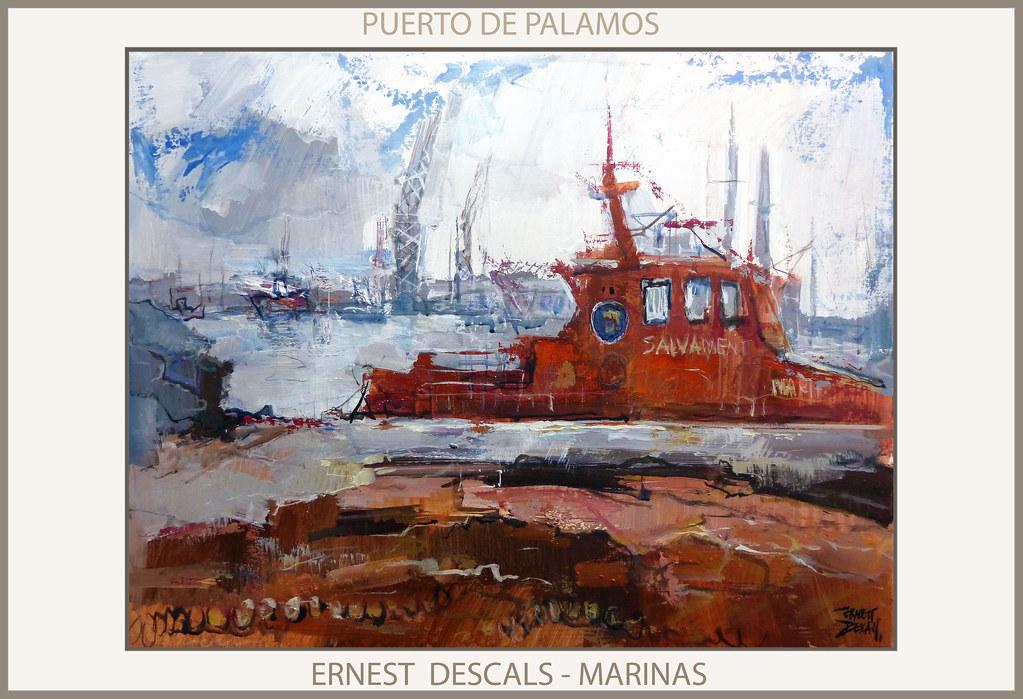 Puerto palamos pintura paisajes port marinas cuadros pintu for Cuadros de marinas