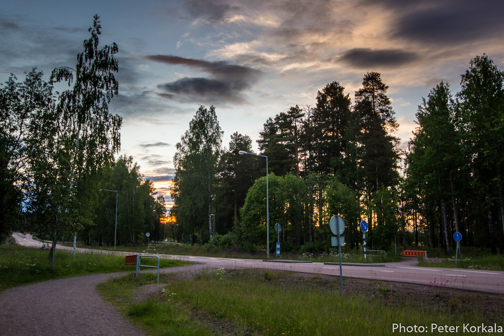 Sunset at Road 69, Falun