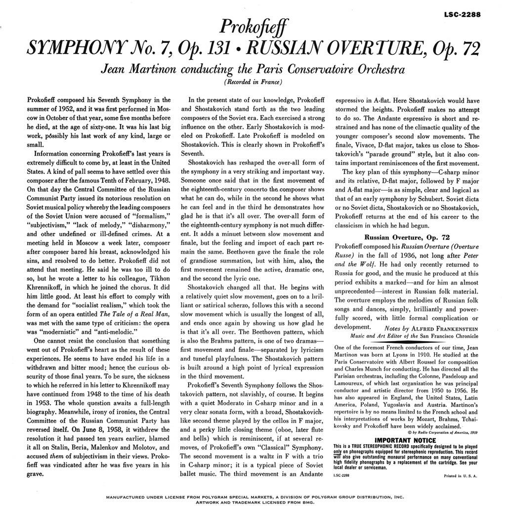 Sergei Prokofiev - Symphony No 7
