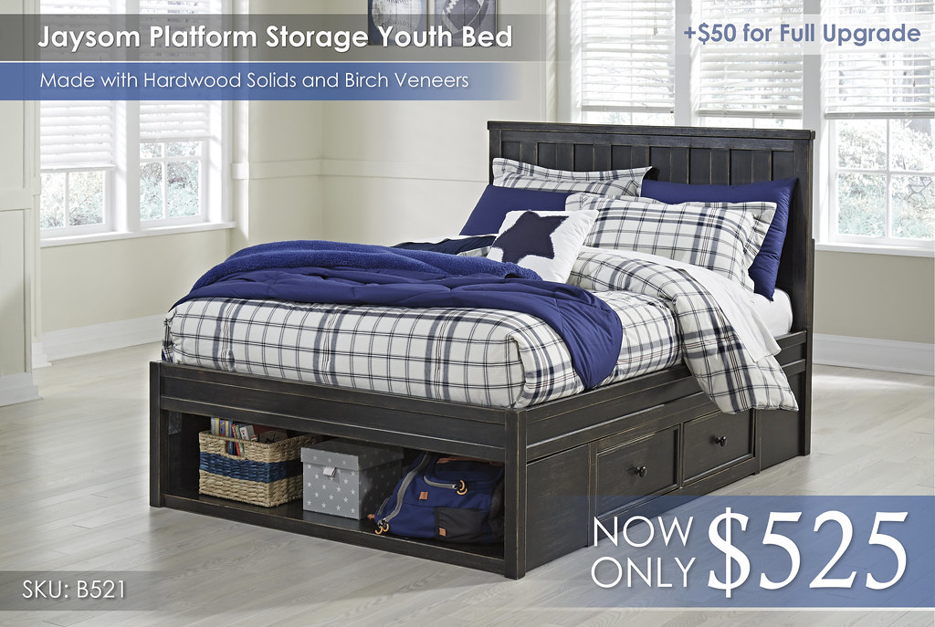 Jaysom Platform Storage Youth Bed B521