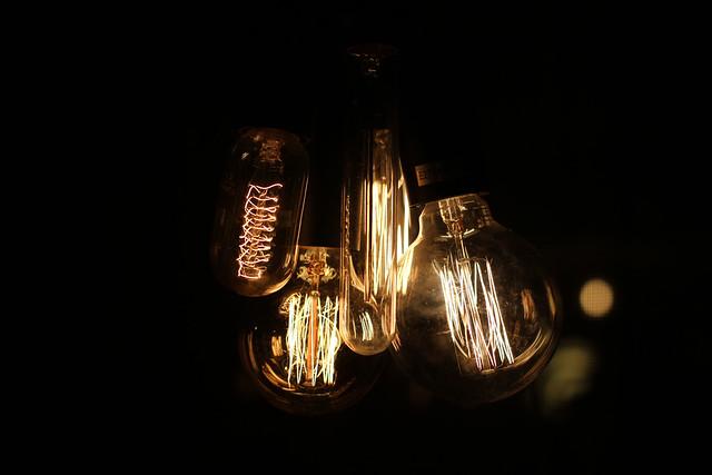lightbulbs at Marcos London