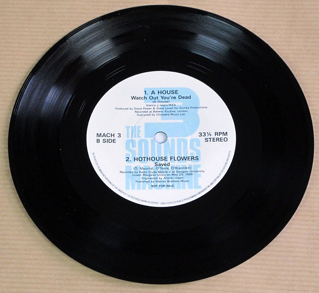 """SOUNDS MACHINE EP3 PROMO STEVE EARLE / MCCARTHY / A HOUSE / HOTHOUSE FLOWERS EP 7"""" 33RPM PS SINGLE VINYL"""