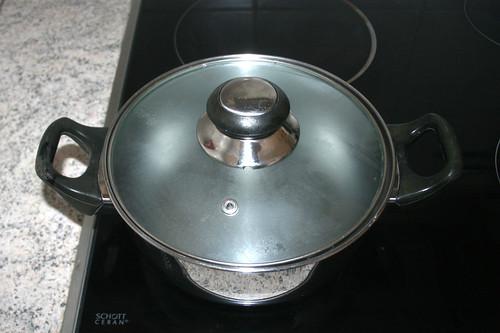 33 - Topf Wasser zum kochen bringen / Bring pot with water to a boil