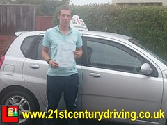 Jonathan Guilliatt passes his driving test in grimsby with 21st Century Driving