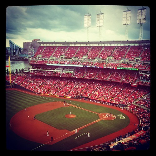 #Reds game number 18 of the season at #GABP! Reds versus #Tigers. #JohnnyCueto versus #DavidPrice!  #PitchersDuel
