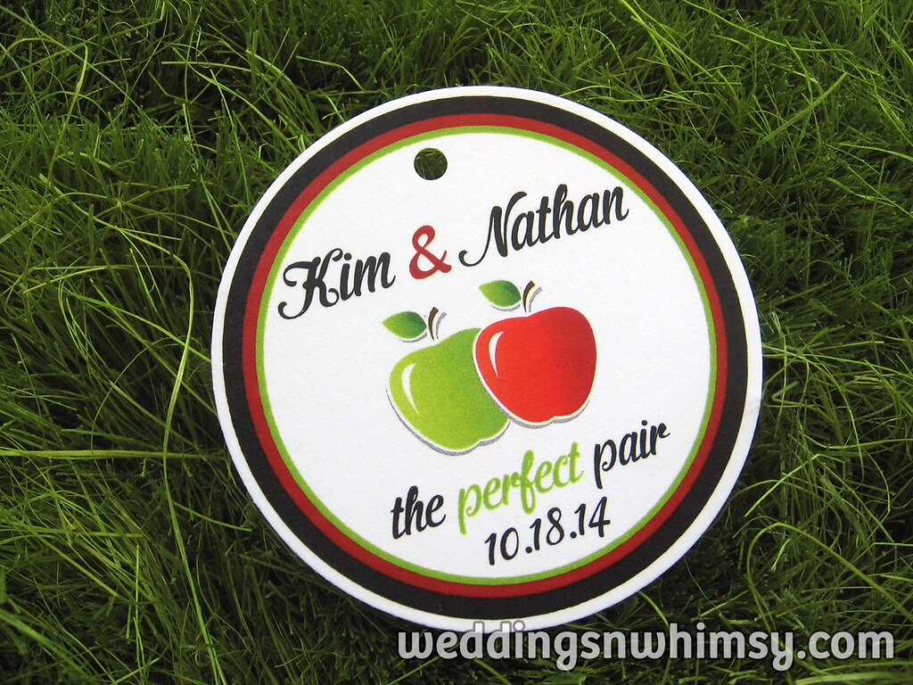 Red Green Apples The Perfect Pair Custom Wedding Favor Flickr