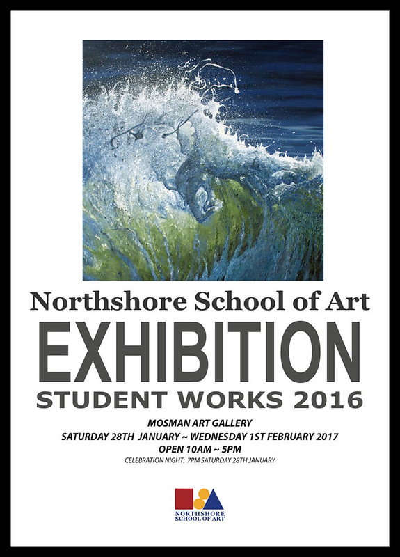 NorthShore School of Art EXHIBITION Student Works 2016 Poster