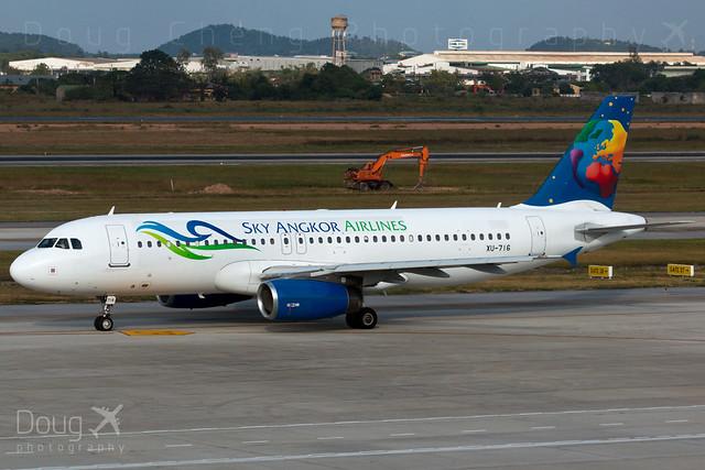 XU-716, Sky Angkor Airlines, Airbus A320-232, HAN/VVNB