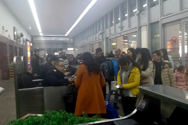 Changsha train station in response to the