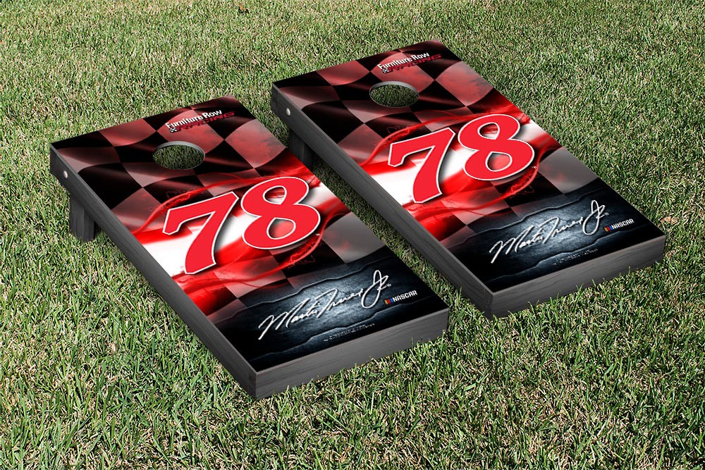 MARTIN TRUEX #78 CORNHOLE GAME SET NIGHT LIGHTS VERSION (1)