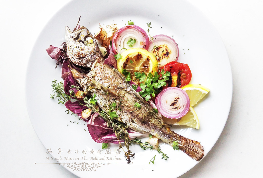 孤身廚房-地中海風味烤黑喉魚佐鑄鐵烤盤烤蔬菜11