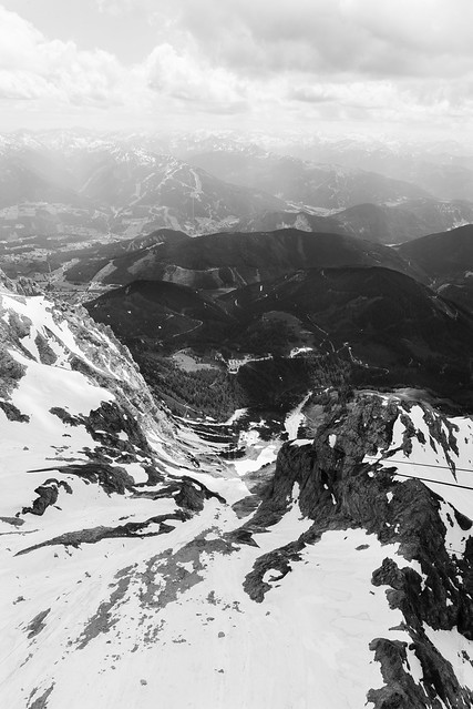 Looking down from Dachstein