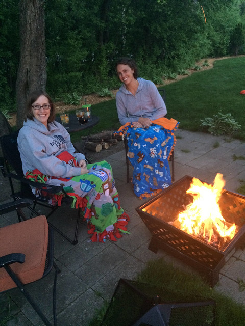 by the bonfire with erin