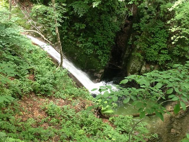 貝月山 長者平ルート 少将淵の滝