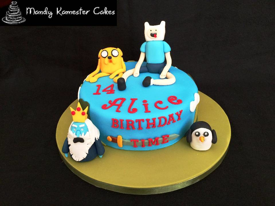 Adventure Time Birthday Cake Birthday cake made for a fan Flickr