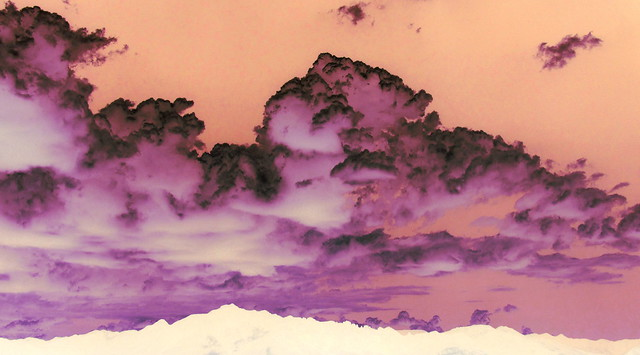 Inverted Color Clouds Over the Chiricahua Mountains
