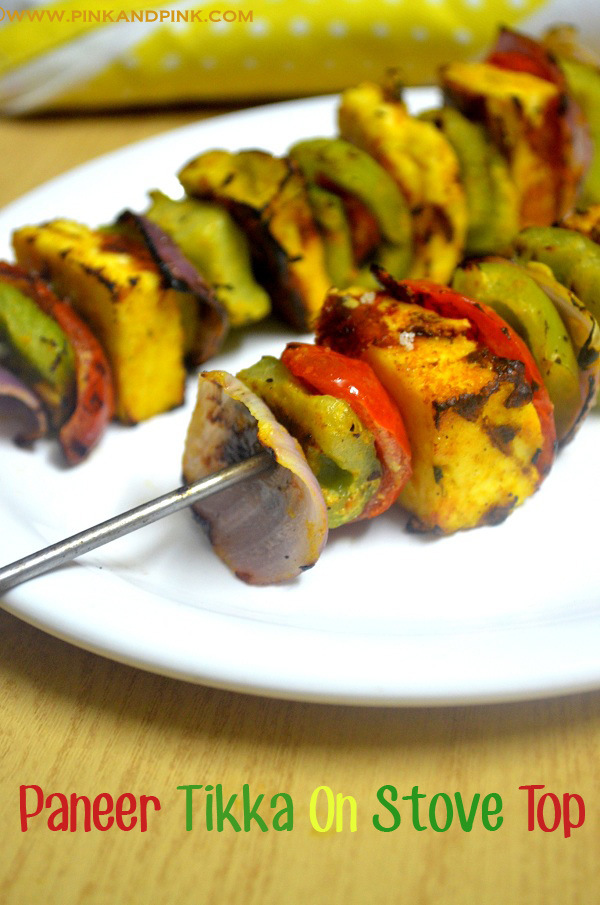 Paneer tikka on tawa