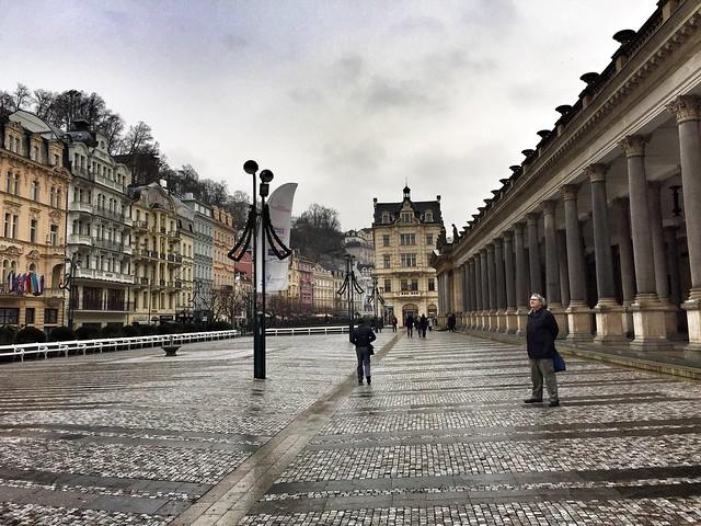 Columnata del molino en Karlovy Vary (República Checa)