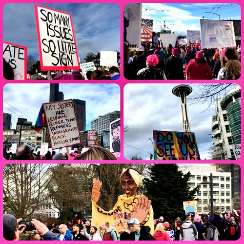 Women's march collage
