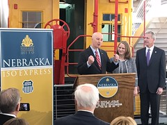 "Gov. Ricketts, First Lady, and Union Pacific CEO Unveil ""Nebraska150 Express"" Tour"