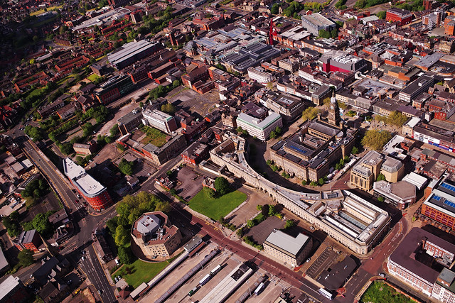 Bolton Town Centre, from above