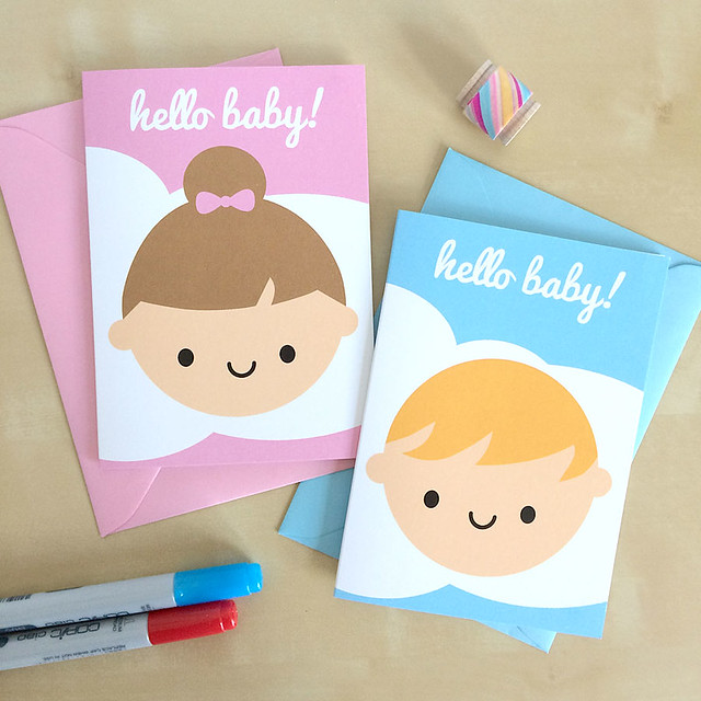 Hello Baby Cards