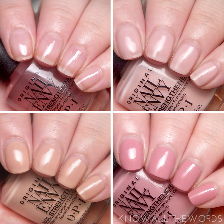 opi nail envy strength in nail colour swatches pink to env… | Flickr