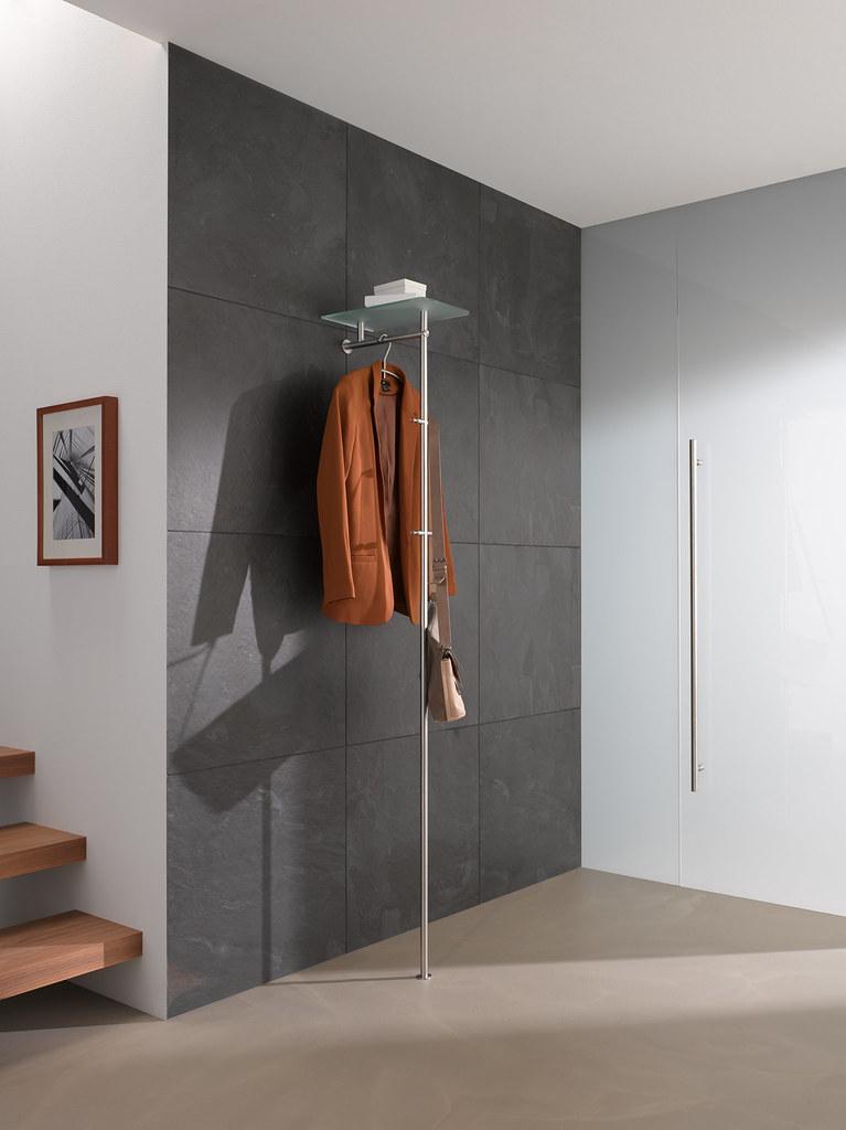 Phos Design standgarderobe gl 1 | mit glasablage | phos-edelstahl-design | flickr